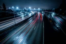 Night Speed - I-90 through Spokane, WA